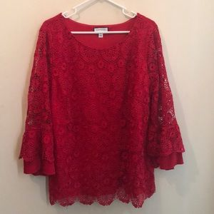 Women's Charter Club Red Blouse